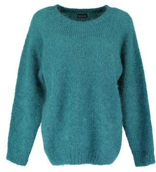 Lowie Ivy Green Slouchy Mohair Jumper - L - Green