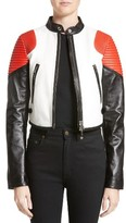 Givenchy Women's Colorblock Lambskin Leather Moto Jacket