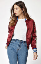 Billabong Team Aloha Embroidered Satin Bomber Jacket