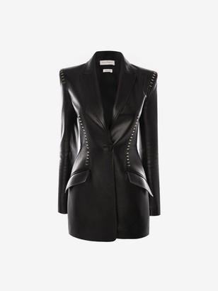 Alexander McQueen Stapled Leather Jacket