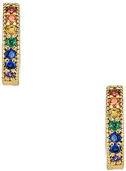 Five and Two jewelry Dallas Mini Stone Earrings
