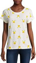 Mighty Fine Short-Sleeve Roll Cuff Pikachu Print Tee