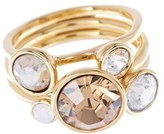 Ted Baker Women's 'Jackie' Crystal Stacking Rings (Set Of 3)