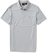 Armani Exchange Signature Jersey Short-Sleeve Solid Polo Shirt