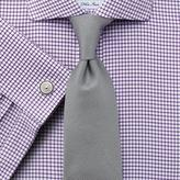 Charles Tyrwhitt Classic fit non-iron spread collar basketweave purple shirt