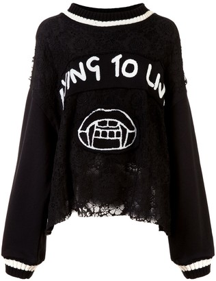 Haculla Dying to live patch sweater