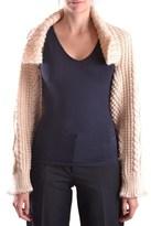 Yohji Yamamoto Women's Beige Wool Cardigan.