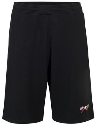 Givenchy Signature logo jersey shorts