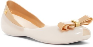 Melissa Queen VI Peep Toe Flat