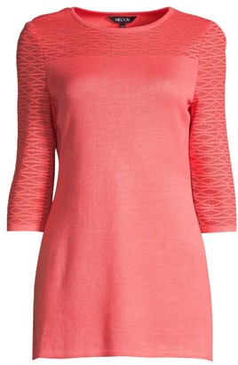 Misook Textured Yoke Knit Tunic