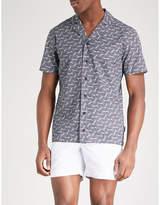 Orlebar Brown Travis geometric-print tailored-fit cotton shirt
