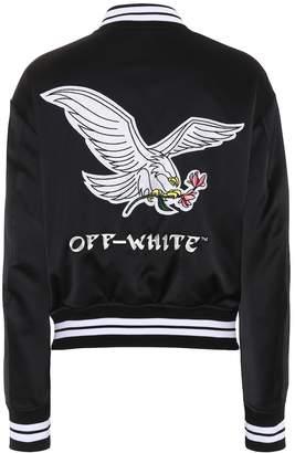 Off-White Off White Satin varsity jacket