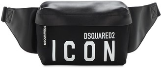 DSQUARED2 Icon Print Tech & Leather Belt Bag