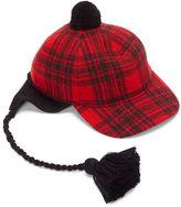 Gucci Men's Peruviano Tartan Ear Flap Tasselled Cap In Red And Black