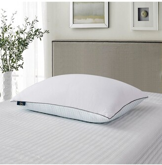 Blue Ridge Home Fashions 2pk Serta 233 Thread Count Summer & Winter White Goose Feather Bed Pillow - King - White