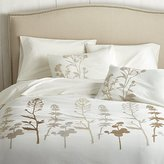 Crate & Barrel Woodland Natural Duvet Covers and Pillow Shams