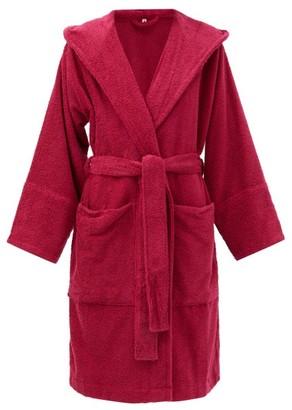 Tekla Hooded Cotton-terry Bathrobe - Pink