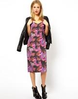 Asos Floral Print Midi Dress