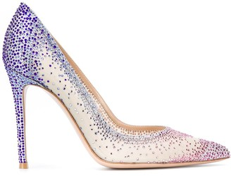 Gianvito Rossi Embellished Pointed Toe Heels