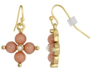2028 Gold-Tone Semi Precious Carnelian Drop Earrings