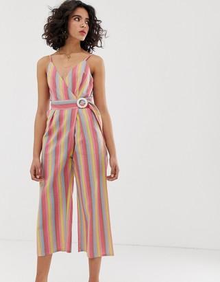 Moon River rainbow stripe jumpsuit