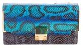 Lanvin Partition Snakeskin Clutch