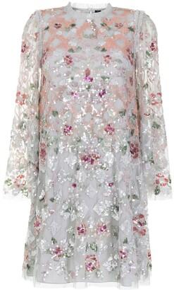 Needle & Thread Harlequin Rose Sequin embellished mini dress