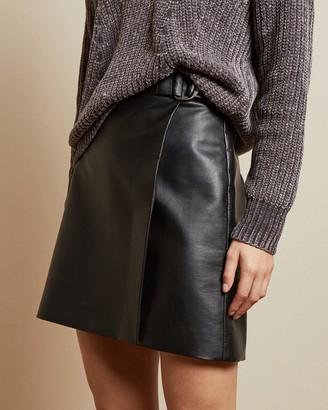 Ted Baker LYLEY Ring detail pleather mini skirt