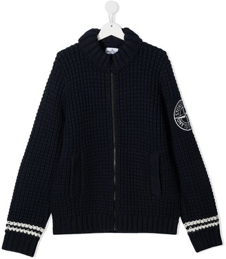 Stone Island Junior TEEN zipped sweatshirt