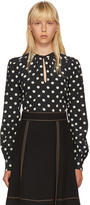 Marc Jacobs Black Polka Dot Bishop Sleeve Blouse