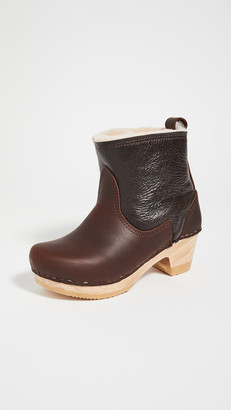 NO.6 STORE Pull On Shearling Mid Heel Boots