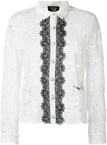 The Kooples two-tone lace blouse - women - Cotton/Polyamide/Polyester/Viscose - 2