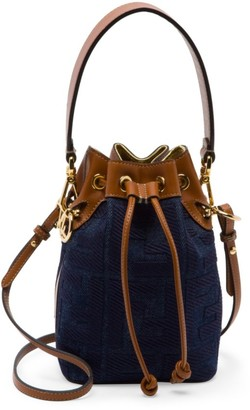 Fendi Mini Mon Tresor Denim Bucket Bag