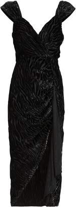 Saylor Farrah Tiger Devore Dress
