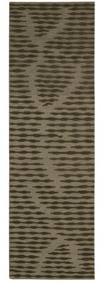 """Calvin Klein Home Coastal Cambium Hand-Knotted Wool Brown Area Rug Rug Size: Runner 2'3"""" x 7'5"""""""