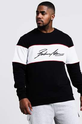 Big & Tall 3D MAN Embroidered Sweater