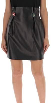 Versace Button Detail Mini Skirt