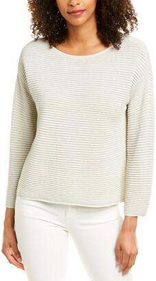Eileen Fisher Sparkle Linen-Blend Sweater