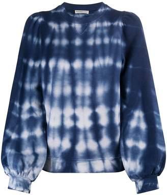 Ulla Johnson tie-dye balloon-sleeved sweatshirt