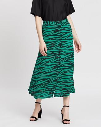 Whistles Tiger Print Button-Through Skirt
