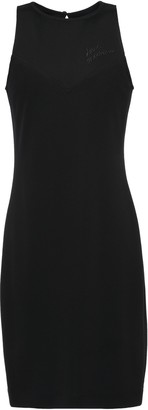 Love Moschino Embroidered Stretch-jersey Mini Dress