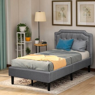 Red Barrel Studio Angalena Twin Tufted Upholstered Low Profile Lift up Storage Platform Bed