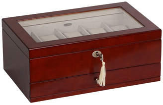 Mele Christo Glass Top Wooden Watch Box