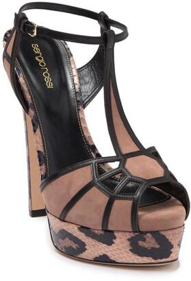 Sergio Rossi T-Strap Cutout Stiletto Sandal