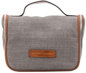 Brunello Cucinelli Leather Stap Wash Bag
