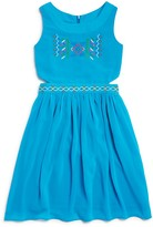 Blush by Us Angels Girls' Embroidered Cutout Dress - Sizes 7-16