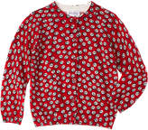 Rachel Riley Girls' Red Anchor Cardigan