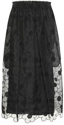 Simone Rocha Moncler Genius 4 MONCLER silk skirt