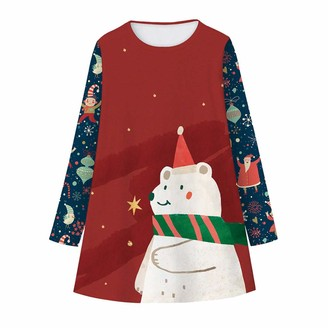 Moent Christmas Kids Girls Skirt