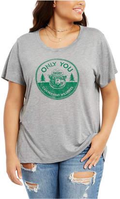 Modern Lux Trendy Plus Size Smokey Bear Graphic-Print T-Shirt